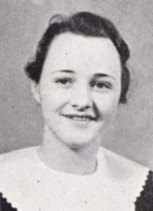 Doris (Pierce) Fuller in the 1934 Echo yearbook
