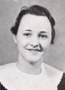 Doris (Pierce) Fuller in the 1934 Echo yearbook