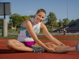 Miranda Biddle was diagnosed Burkitt's Lymphoma in early 2013. She returned to the classroom and the track in August after completing her treatments.
