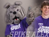 Alex Scherr spreads school spirit as Truman's mascot, Spike.