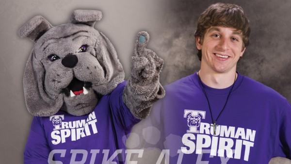 The Man Behind the Mask Alex Scherr spreads school spirit as Truman's mascot, Spike.