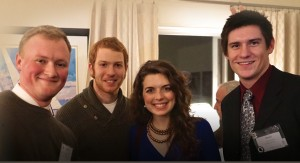 Pictured, left to right: Joel Kirby ('13), Eian Zellner ('13), Chelsea Lundberg ('13) and David Schatz ('13).