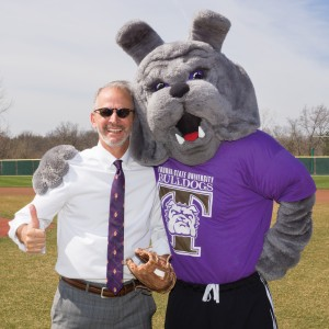President Troy Paino and Spike