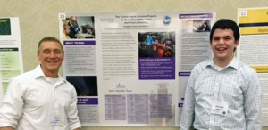 Paul Yoder (left) and Truman Noyce Scholar Joseph Milliano attended the Noyce Scholar Program Conference in Omaha, Neb., in October.